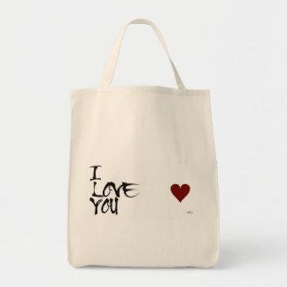 Bolsa Tote Sacola Ecológica- Eu amo você