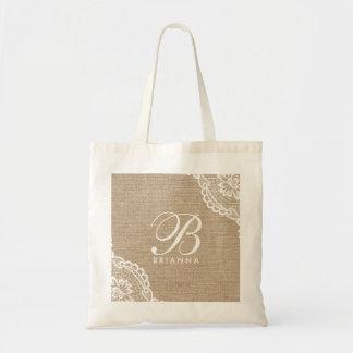 Bolsa Tote Sacola elegante de serapilheira branca do