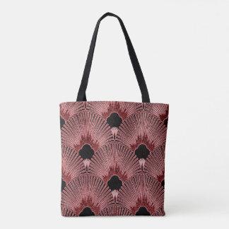 Bolsa Tote Sacola elegante do design do fã do art deco