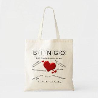 Bolsa Tote Sacola engraçada do Bingo das frases. Amor do