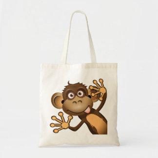 Bolsa Tote Sacola engraçada do macaco