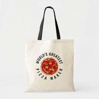 Bolsa Tote Sacola engraçada para fabricante da pizza do mundo