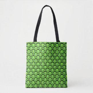 Bolsa Tote Sacola estrangeira verde bonito do teste padrão