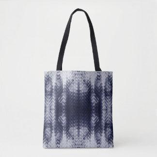 Bolsa Tote Sacola étnica de Shibori do azul de índigo