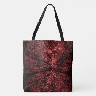 Bolsa Tote Sacola extravagante com imagem 'Forest vermelho da