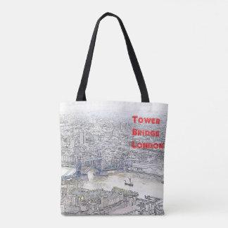 Bolsa Tote Sacola feita sob encomenda - ícones de Londres