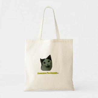 Bolsa Tote Sacola feliz da cara do gato