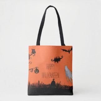 Bolsa Tote Sacola feliz da ilustração do Dia das Bruxas