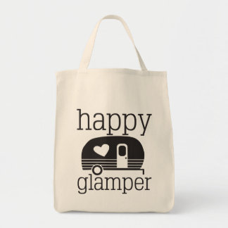 Bolsa Tote Sacola feliz do mantimento de Glamper