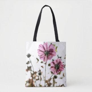 Bolsa Tote Sacola feminino floral cor-de-rosa dos