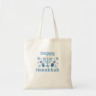 Bolsa Tote Sacola festiva feliz de Hanukkah