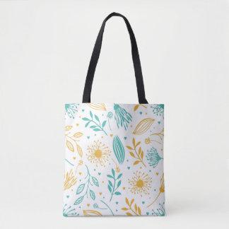 Bolsa Tote Sacola floral abstrata do fundo de Ditsy