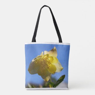 Bolsa Tote Sacola floral aquilégia