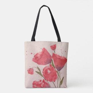 Bolsa Tote Sacola floral cor-de-rosa