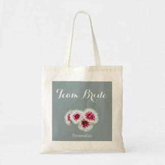 Bolsa Tote Sacola floral do cinza e a branca da foto da
