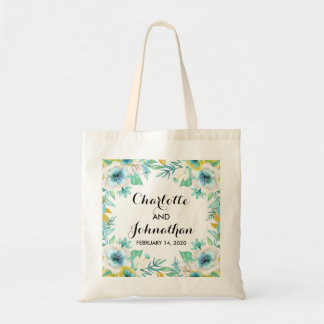 Bolsa Tote Sacola floral do orçamento do casamento do vintage