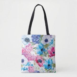 Bolsa Tote Sacola floral do teste padrão | do verão bonito