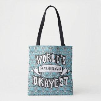 Bolsa Tote Sacola floral do texto engraçado vazio do Okayest