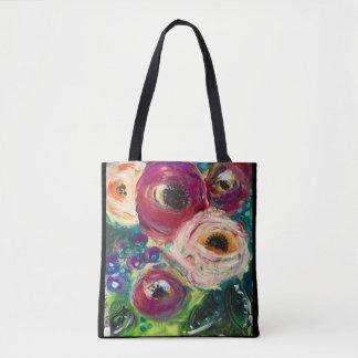 Bolsa Tote Sacola floral original da arte por Sheryl Amburgey
