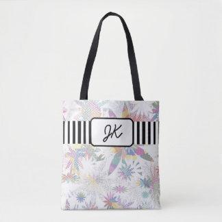 Bolsa Tote Sacola floral Pastel Monogrammed