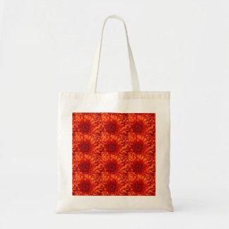 Bolsa Tote Sacola florescida vermelha bonita com a