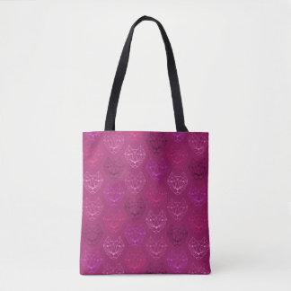 Bolsa Tote Sacola geométrica cor-de-rosa do teste padrão do