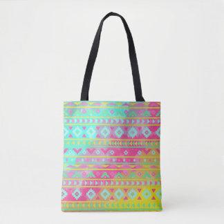 Bolsa Tote Sacola geométrica da aguarela chique tribal de