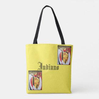 Bolsa Tote Sacola impressa da beleza amarelo indiano