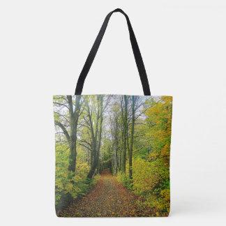Bolsa Tote Sacola impressionante do impressão da floresta
