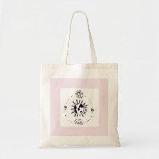 Bolsa Tote Sacola incondicional rosa pálido do amor