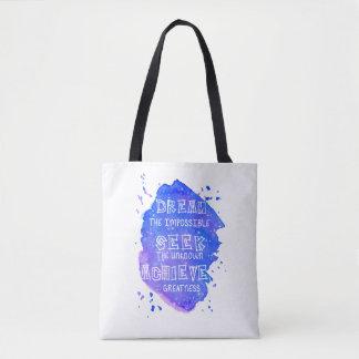 Bolsa Tote Sacola inspirada das citações da aguarela