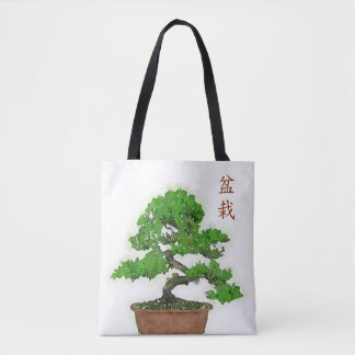 Bolsa Tote Sacola japonesa da árvore dos bonsais