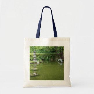 Bolsa Tote Sacola japonesa da lagoa #2 do jardim de chá de