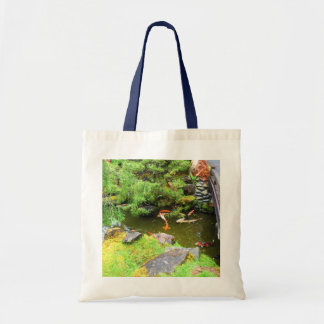 Bolsa Tote Sacola japonesa da lagoa #3 de Koi do jardim de