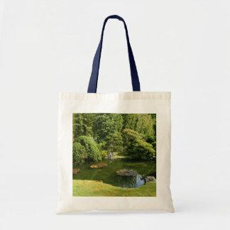 Bolsa Tote Sacola japonesa da lagoa #3 do jardim de chá de