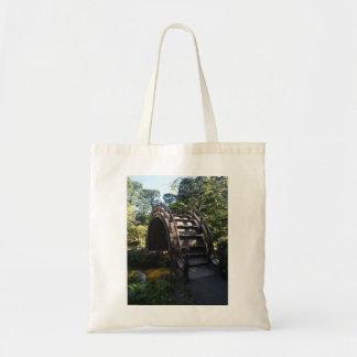 Bolsa Tote Sacola japonesa da ponte do cilindro do jardim de