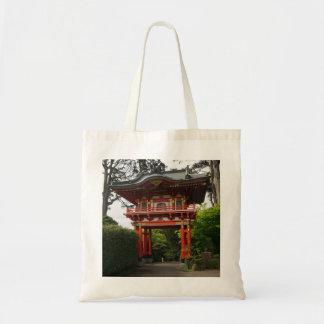 Bolsa Tote Sacola japonesa da porta #2 do templo do jardim de