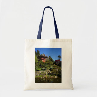 Bolsa Tote Sacola japonesa da porta do templo do jardim de