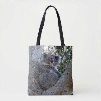 Bolsa Tote Sacola - Koala em uma árvore de goma