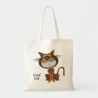 Bolsa Tote Sacola legal do gato dos desenhos animados