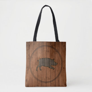 Bolsa Tote Sacola leitão de madeira