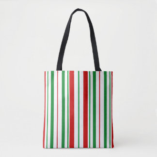 Bolsa Tote Sacola listrada do Natal do Natal