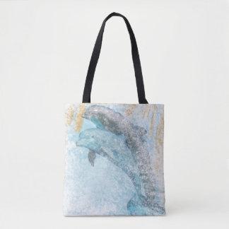 Bolsa Tote Sacola litoral da vida | dos golfinhos