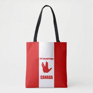 Bolsa Tote Sacola longa viva de Canadá