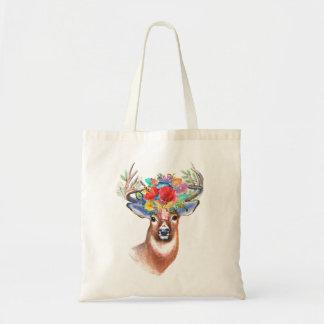 Bolsa Tote Sacola majestosa do veado do tema boémio