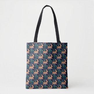 Bolsa Tote Sacola medieval da tapeçaria do coelho