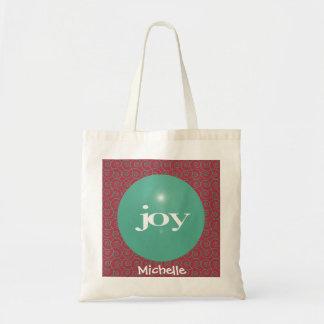 Bolsa Tote Sacola moderna personalizada alegria do Natal