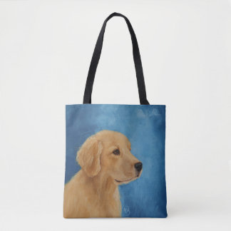 Bolsa Tote Sacola nova do golden retriever