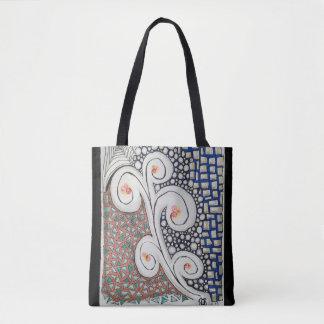 Bolsa Tote Sacola original do impressão da arte toda sobre -