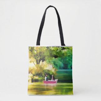 Bolsa Tote Sacola para o lago e o barco